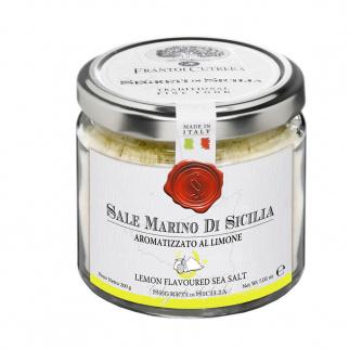 Sel marin de Sicile aromatisé au citron 200 gr