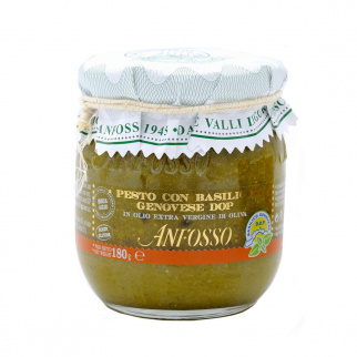 Pesto with Basil Genovese PDO without garlic 180 gr