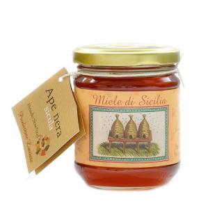 Lampedusa Island Mixed flower honey Sicilian Black Bee 250 gr