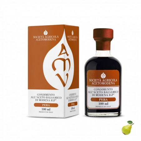 Condiment au Vinaigre Balsamique de Modena IGP et Poire 100 ml