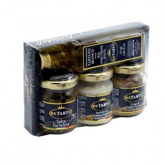Quatre Délices Italiennes à laTruffe - Huile Crème Spécialité et Sauces aux Truffes