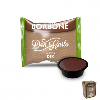 50 Capsules Café Borbone mélange VERT / DEK compatibles Lavazza A Modo Mio*