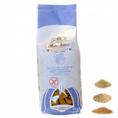 Glutenfreie Conchiglie Pasta mit Amaranth, Teff und Quinoa Mehl 250 gr