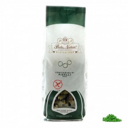 Fusilli pâtes Sans Gluten avec farine de Pois Verts 250 gr
