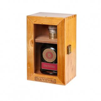 Balsamic Vinegar of Modena PGI Due Vittorie Oro with doser cork in wooden box 250 ml