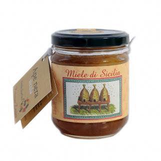 Miel toutes fleurs de l' île de Vulcano Abeille Noire Sicilienne 250 gr