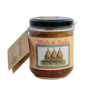 Vulcano Island mixed flower honey Sicilian Black Bee 250 gr
