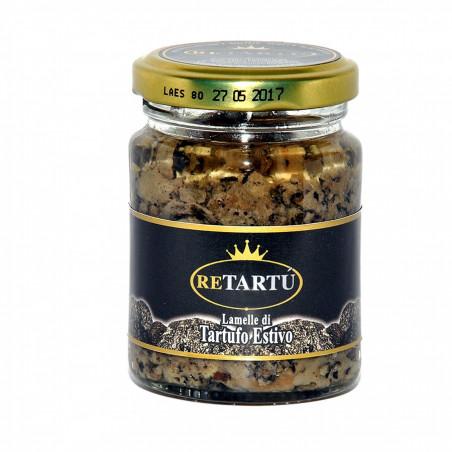 Schijfjes van Zomertruffel in Zonnebloemolie 80 gr