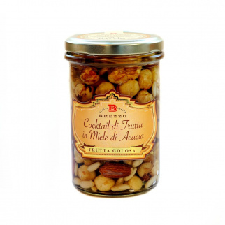 Mix of Almonds, Hazelnuts and Walnuts  in Acacia Honey 350 gr