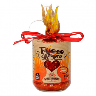 Fuoco d'Amore: Sehr scharfe Peperoncino Soße 180 gr