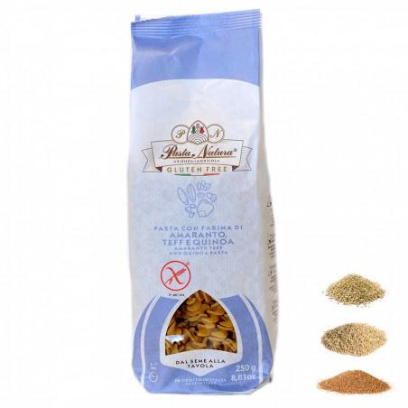 Glutenfreie Fusilli mit Amaranth, Teff und Quinoa Mehl 250 gr