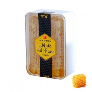 Miel d'Acacia avec Rayon en boîte 200 gr