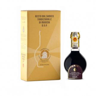 Traditioneller Balsamico Essig aus Modena DOP Extravecchio 25 Jahre Gold Box 100 ml