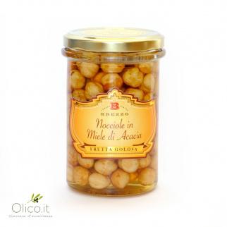 In Honig eingelegte Haselnüsse