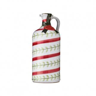 """Handgemachter Keramikkrug """"Foglie"""" mit Nativem Olivenöl Extra 500 ml"""