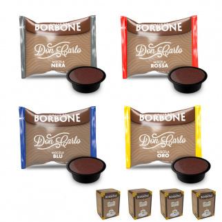 Set dégustation Café Borbone: 200 capsules mélanges assortis compatibles Lavazza a Modo Mio*