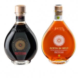 The classics Due Vittorie  - Oro Balsamic vinegar and Apple 500 ml x 2