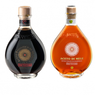 I classici Due Vittorie - Aceto Balsamico Oro e Mela in barrique 500 ml x 2