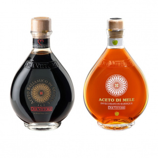 I classici Due Vittorie - Aceto Balsamico Oro e Mela in barrique 250 ml x 2