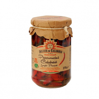 Hot long Calabrian Chili Peppers 270 gr