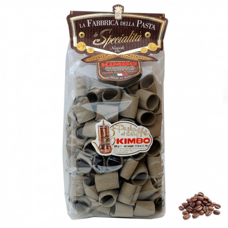 Paccheri Rigati Pasta mit Kimbo Kaffee 500 gr
