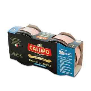Callipo Tonijnschijfjes in Zout Water Riserva Oro80 gr x 2