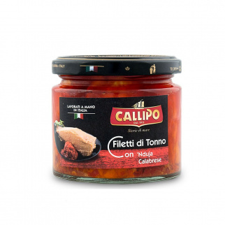 Tuna fish fillets with 'Nduja 200 gr