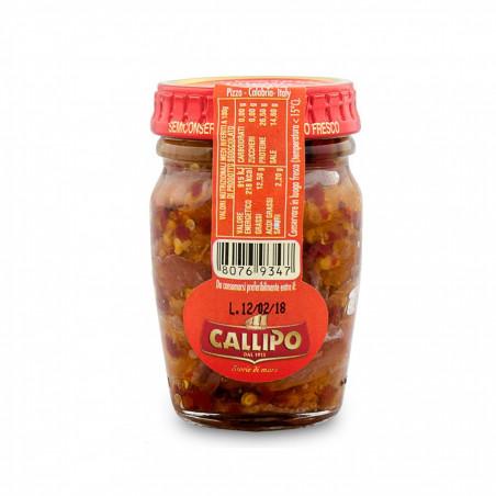 Filets d'anchois à l'Huile d'Olive Extra Vierge et Piment 75 gr