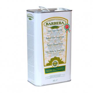 Huile d'Olive Extra Vierge Non Filtrée Barbera 3 lt