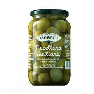 Olive Verdi Nocellara Siciliana dolci intere in Salamoia 560 gr
