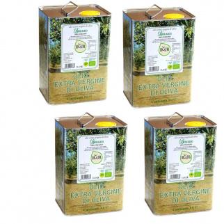 Huile d'Olive Extra Vierge Biologique Bioliva 3 lt x 4