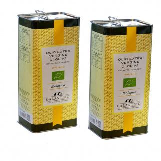 Organic Extra Virgin Olive Oil 5 lt x 2