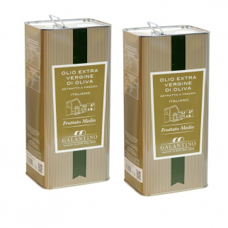 Huile d'Olive Extra Vierge Fruitée Moyenne 5 lt x 2