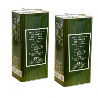 Huile d'Olive Extra Vierge Fruitée Intense 5 lt x 2