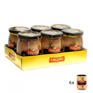 Callipo Tuna fish fillets in olive oil Riserva Oro 550 gr x 6