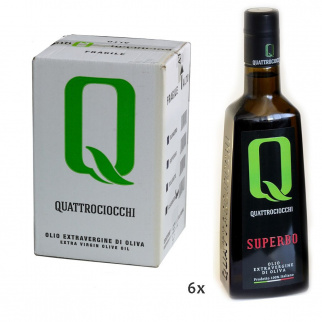 Huile d'Olive Extra Vierge Superbo 500 ml x 6