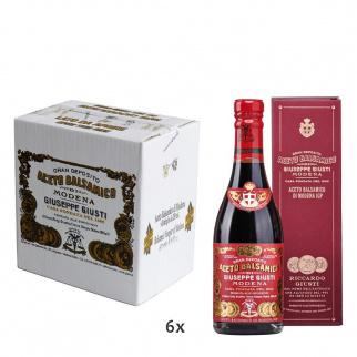 "Boxed Balsamic Vinegar of Modena PGI 3 Gold Medals ""Riccardo Giusti"" 250 ml x 6"