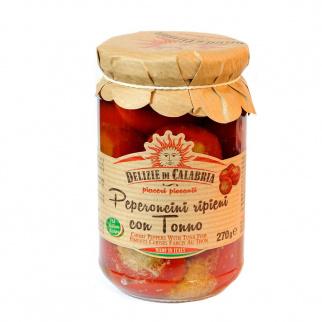 Gefüllte Kirschpeperoncini mit Thunfisch 270 gr