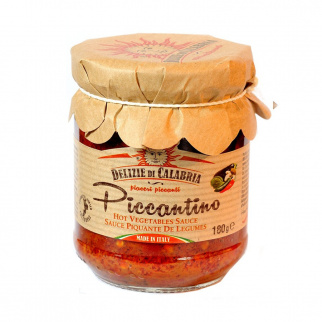 Piccantino Sauce mit Peperoncino und Mischgemüse 180 gr