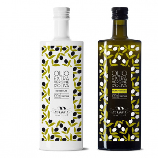 Huile d'Olive Extra Vierge Coratina Muraglia: Denocciolato et Intense 500 ml x 2