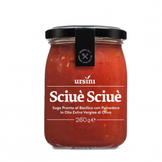 Sciuè Sciuè sauce prête de Tomate et Basilic 260 gr