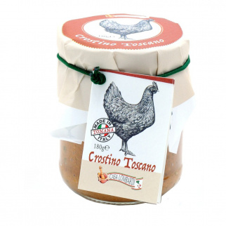 Paté Crostini Toscans aux Foies de Volaille 180 gr