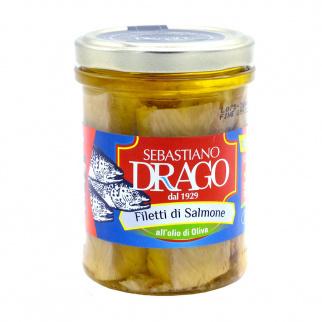 Salmon fillets in olive oil 200 gr