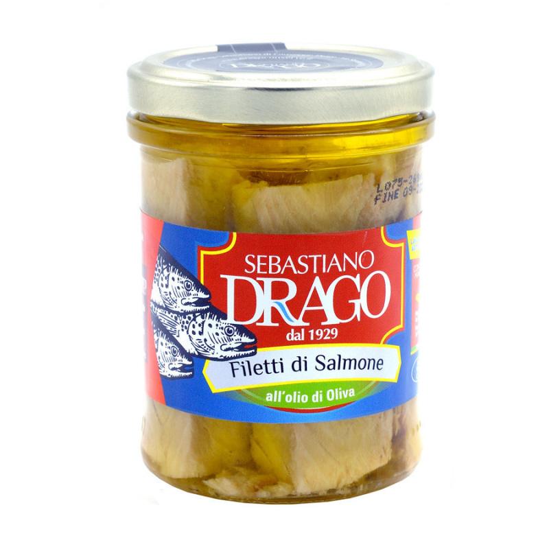 Filets de Saumon à l'huile d'olive 200 gr
