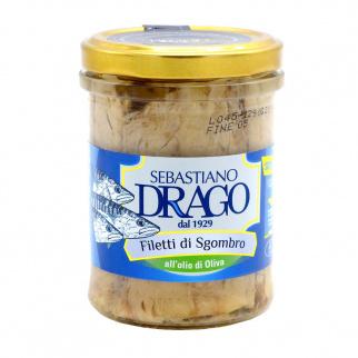 Mackerel fillets in olive oil 200 gr