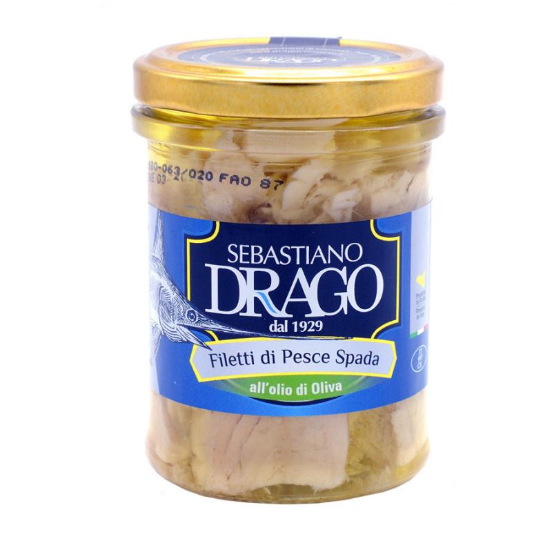 Filetti di Pesce Spada all'olio di oliva 200 gr