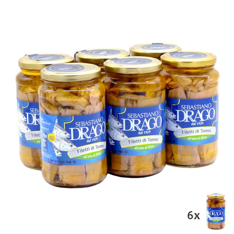 Filetti di Tonno all'olio di oliva 550 gr