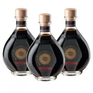 Tris Vinaigre Balsamique de Modena IGP Due Vittorie Oro 250 ml x 3