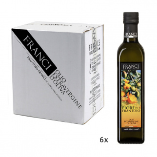 Olio Extra Vergine di Oliva Fiore del Frantoio Franci  500 ml x 6