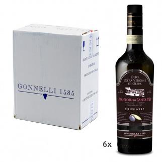 Huile d'Olive Extra Vierge Récolte Olives Noires 500 ml x 6